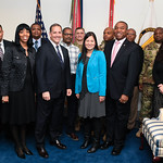 Administrative Assistant to the Secretary of the Army Mr. Gerald B. O'Keefe and members of Army Protocol pose for a photo at the Pentagon in Arlington, Va., Feb. 15, 2017. (U.S. Army photo b ...