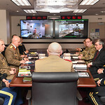Lt. Gen. Robert Ashley hosts an office call at the Pentagon in Arlington, Va., Feb. 7, 2017. (U.S. Army photo by Spc. Tammy Nooner/Released)