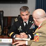 Lt. Gen. Paul Nakasone hosts an office call at the Pentagon in Arlington, Va., Feb. 7, 2017. (U.S. Army photo by Spc. Tammy Nooner/Released)