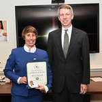 Under Secretary of Defense for Policy Brian McKeon and Acting Assistant Secretary of Defense for Special Operations/Low Intensity Conflict Theresa Whelan present awards at the Pentagon in Ar ...