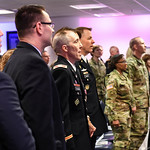 U.S. Army Maj. Gen. Theodore C. Harrison hosts a promotion ceremony in honor of Col. Samuel L. Volkman at the Pentagon in Arlington, Va., May 10, 2017. (U.S. Army photo by Spc. Tammy Nooner)